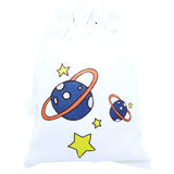 Planet canvas pouch