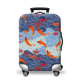 Elastic Travel Luggage Bag Protector Cover-Japanese Koi
