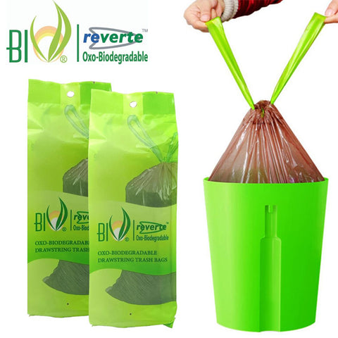 BIO Biodegradable Drawstring Trash Bags - Bundle of 2