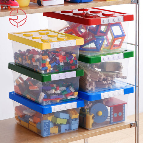 Bricks Toy Organiser Storage Box - Medium