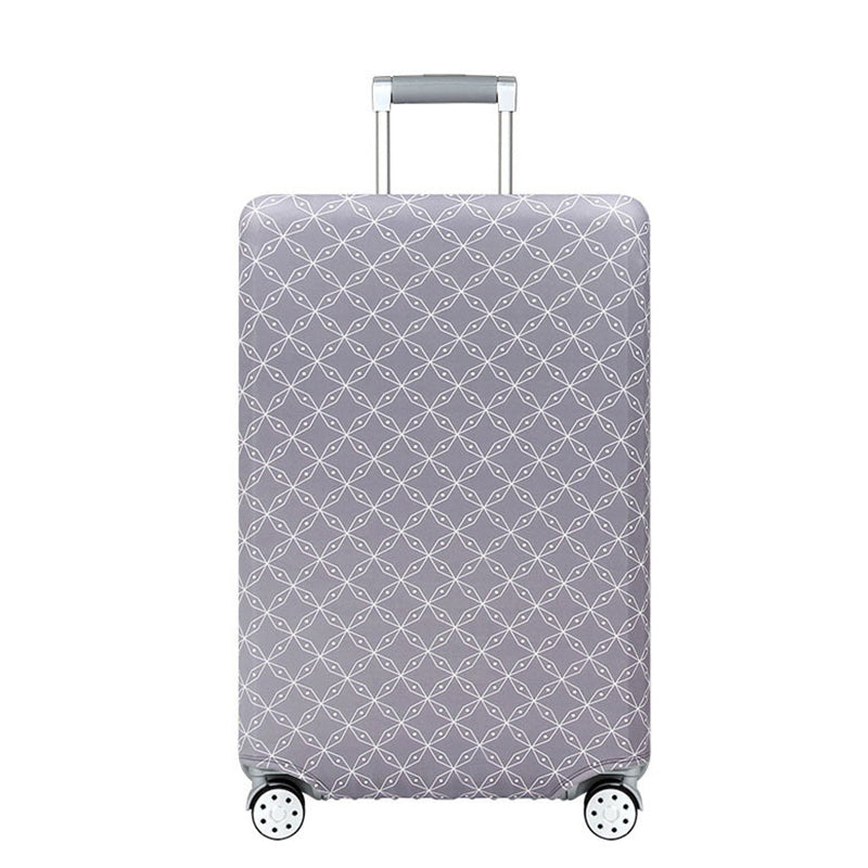 Elastic Travel Luggage Bag Protector Cover- Diamond Grid Grey