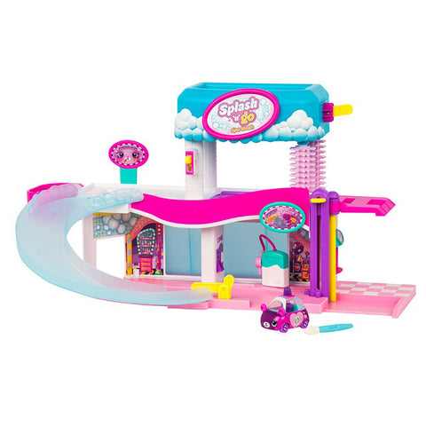 Shopkins Cutie Cars Splash 'n' Go Spa Wash Playset