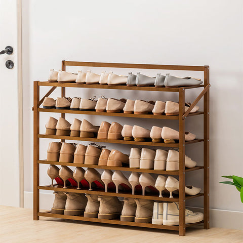 Foldable Bamboo Shoe Rack Shelf Organizer