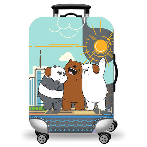 Elastic Travel Luggage Bag Protector Cover- We Bare Bears Best Friends