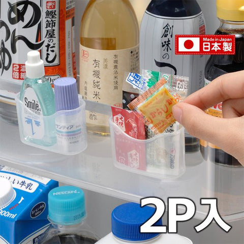 Japan Inomata Refrigerator Sachet Holder File Box Pocket - 2pc Set