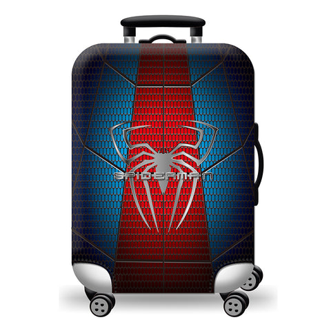 Elastic Travel Luggage Bag Protector Cover- Spider Man Blue