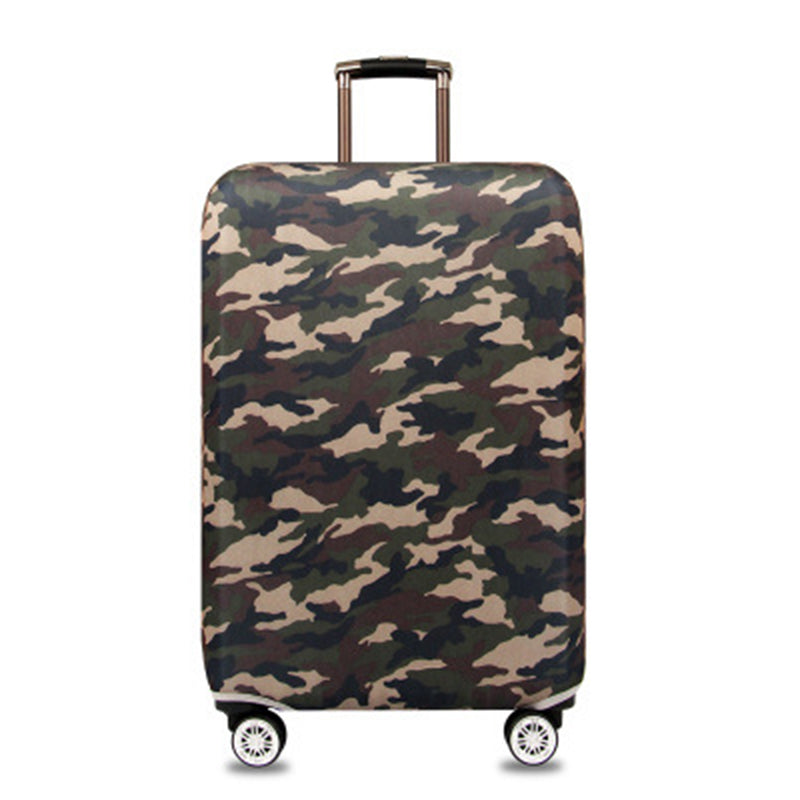 Elastic Travel Luggage Bag Protector Cover - Camouflage
