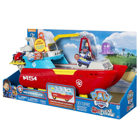 Paw Patrol  Sea Patroller – Sea Patroller Transforming Vehicle with Lights And Sounds