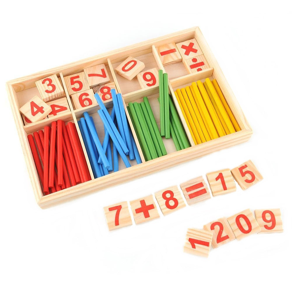Montessori Mathematical Intelligence Stick Preschool Education Enlightenment Toy