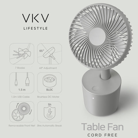 VKV Z2 Rechargeable Table Fan