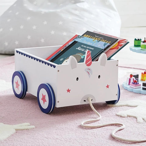 Book Storage Cart - Unicorn