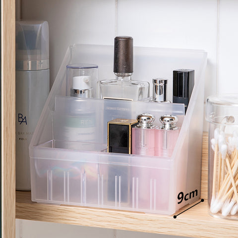 Yamada Transparent Multi-Compartment Pen Holder