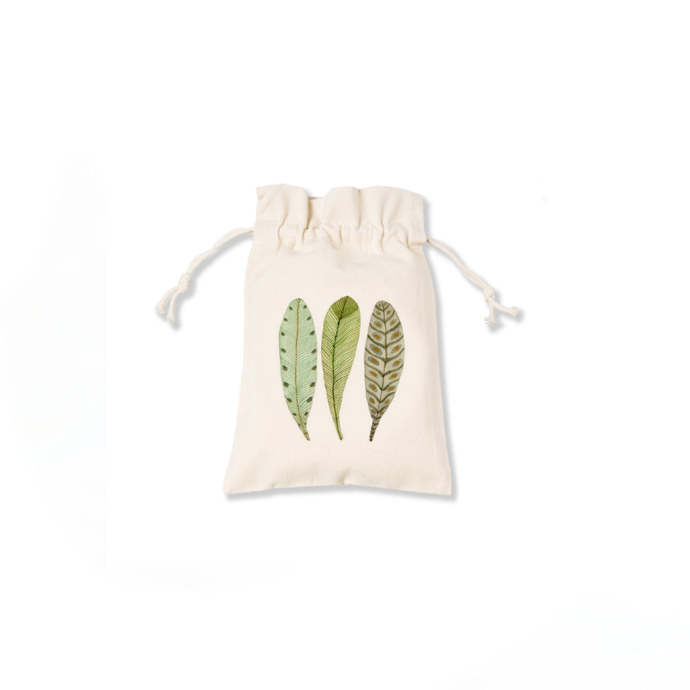 3 Feathers Canvas Pouch