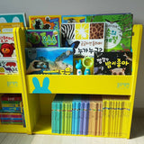 Korea Blue Rabbit Kid Wooden Bookshelf