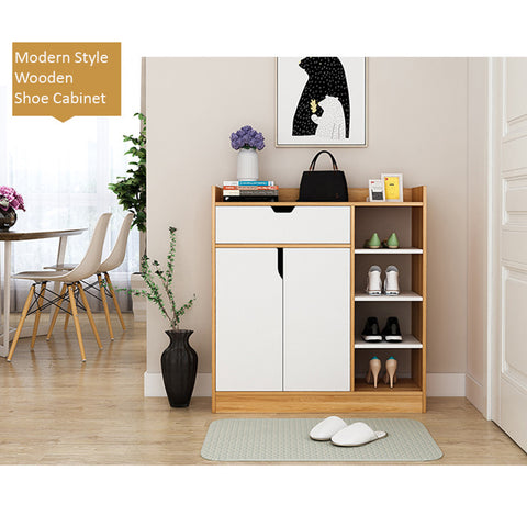 Modern Style Wooden Shoe Cabinet Design B