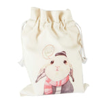 Shy Rabbit Canvas Pouch