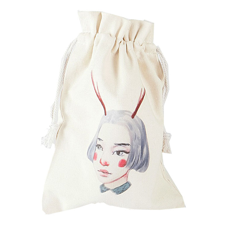 Buck Horn Girl Canvas Pouch