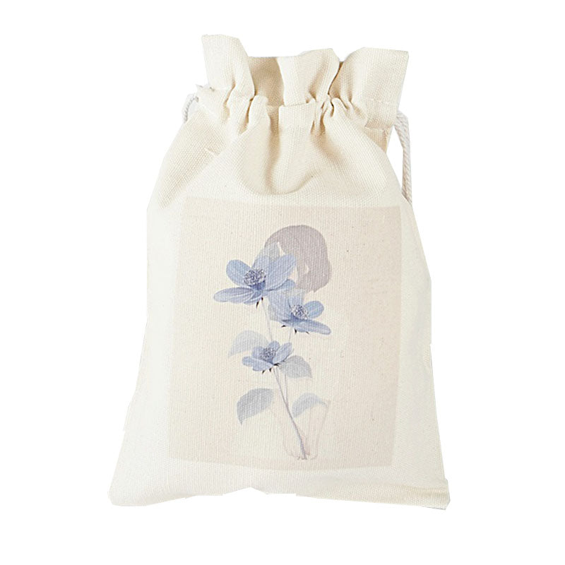 Covering Flower Canvas Pouch