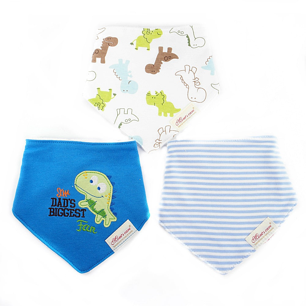 Rhinoceros & Dinosaur Bib Set of 3