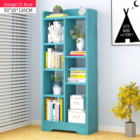 Multi-Purpose Wooden Book Shelf - Design D(4 color)