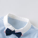 DaveBella Baby Boy Nautical Bow Tie Romper