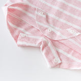 DaveBella Baby Striped Cotton Romper