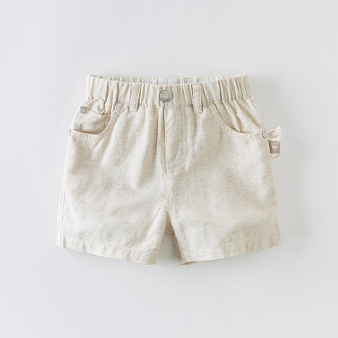DaveBella Boy Beige Casual Short