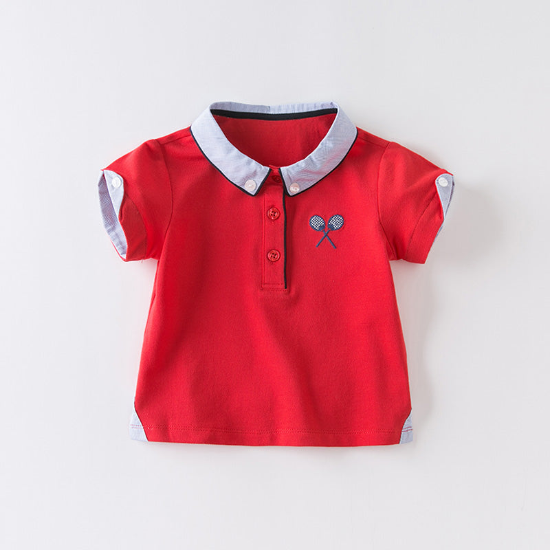 DaveBella Boy Tennis Polo Shirt