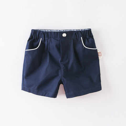 DaveBella Boy Navy Cotton Short