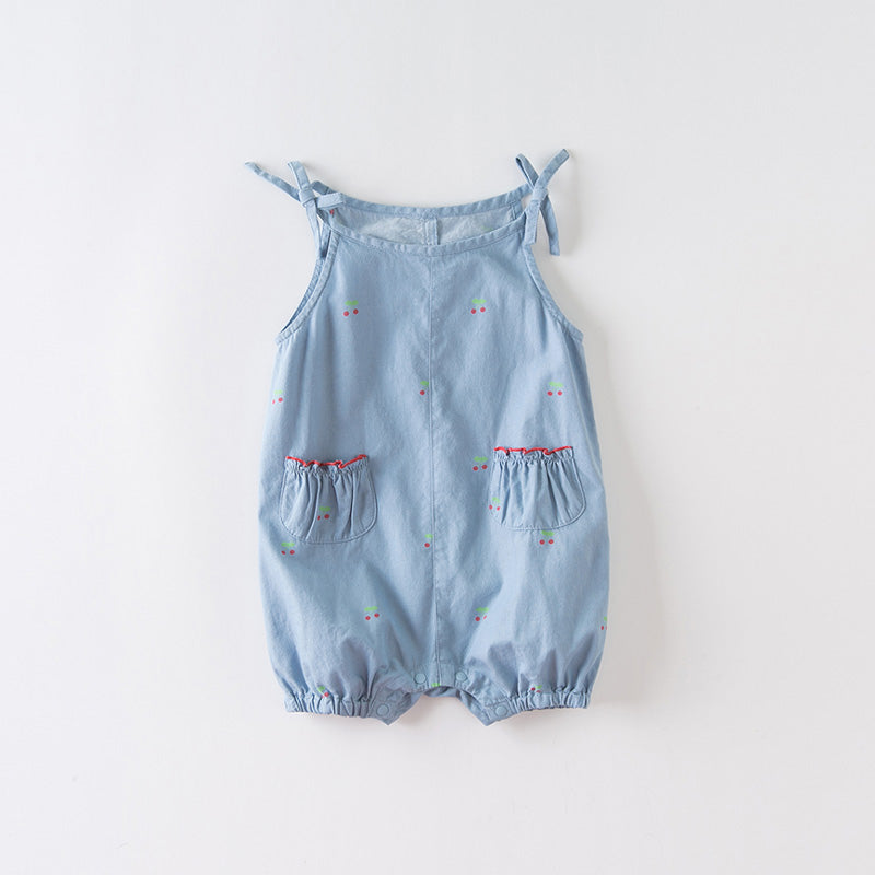 DaveBella Baby Little Angel Cherry Jumpsuit