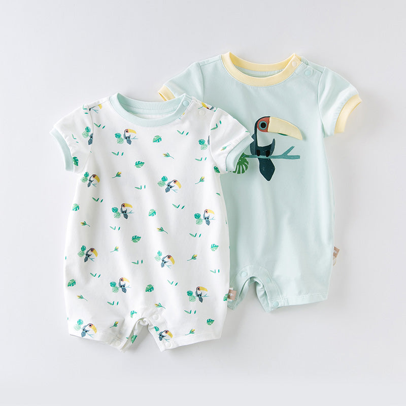 DaveBella Baby Cartoon Toucan Romper 2pc Set