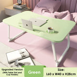 Anti-slip Foldable Laptop Table With Tablet Cup Slot - Upgraded Version