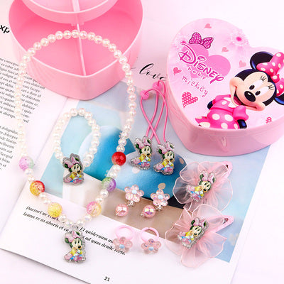 Minnie Mouse Jewelry Hair Accessories Gift Set For Kids