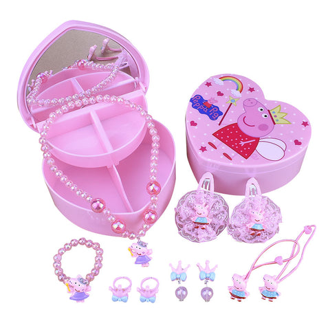 Peppa Pig Jewelry Hair Accessories Gift Set For Kids