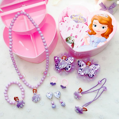 Sofia the First Jewelry Hair Accessories Gift Set For Kids