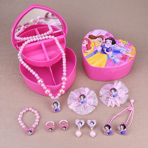 Disney Princesses Jewelry Hair Accessories Gift Set For Kids