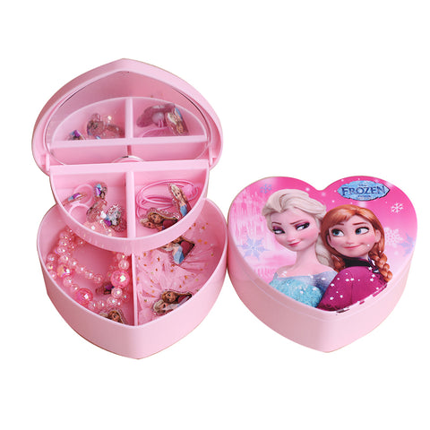 Frozen Pink Jewelry Hair Accessories Gift Set For Kids