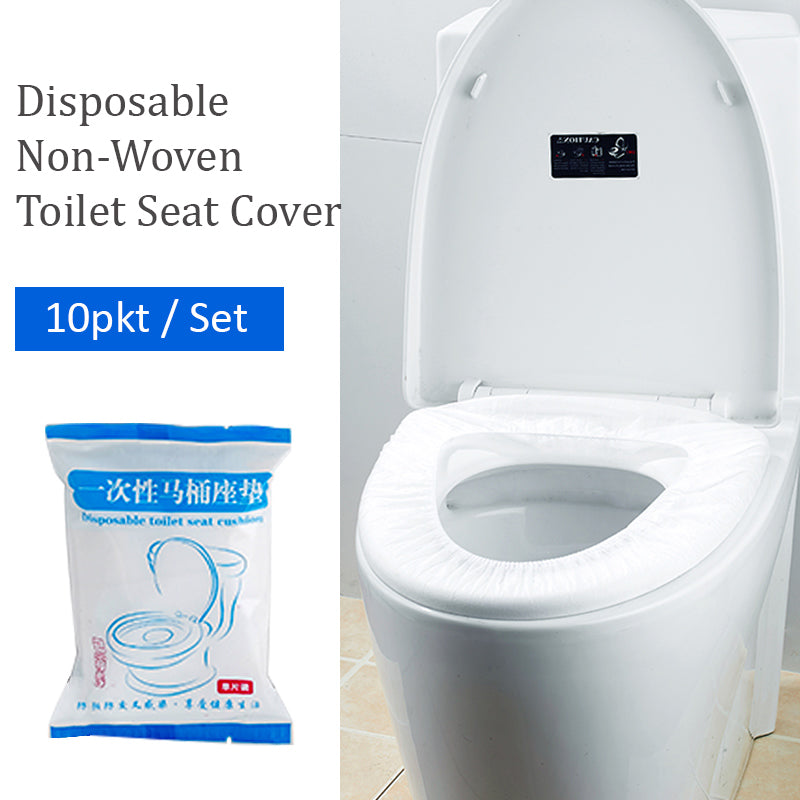 Disposable Non-Woven Toilet Seat Cover 10 Packets Set