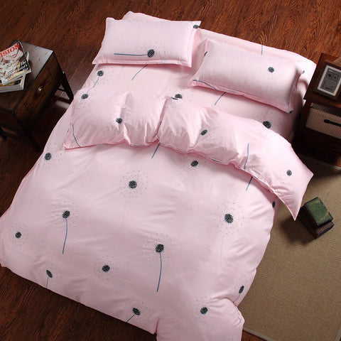 Dandelion Cotton 360° Fitted Bedsheet 4 Pcs Set