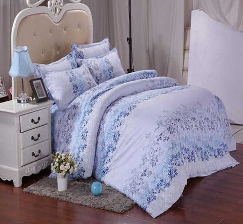 Floral Cotton 360° Fitted Bedsheet 4 Pcs Set