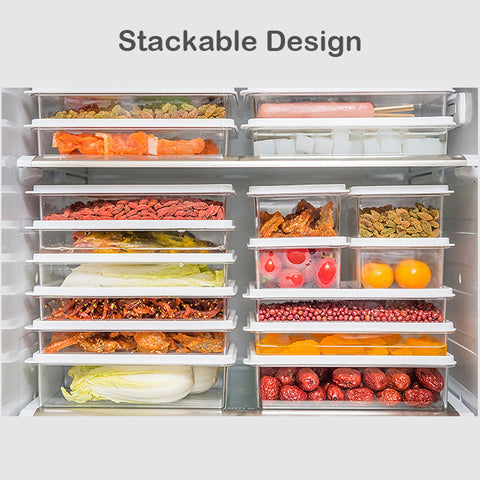 Microwave Safe Food Storage Subdivision Container 4Pcs Set