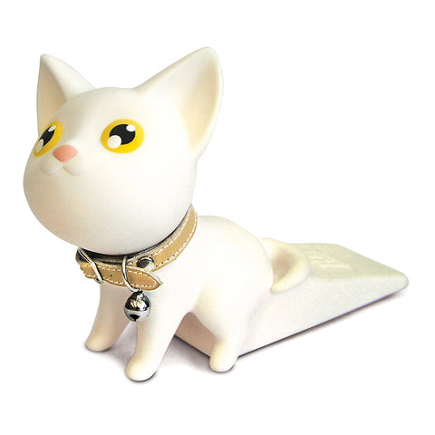 White Kat Door Stopper