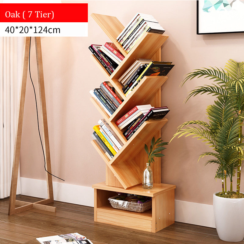7-Tier Wooden Book Rack (3 colors)