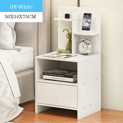 Wooden Bedside Table With Storage Rack (3 Colors)