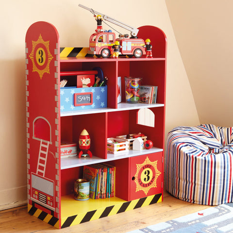 Fire Truck Book Shelf