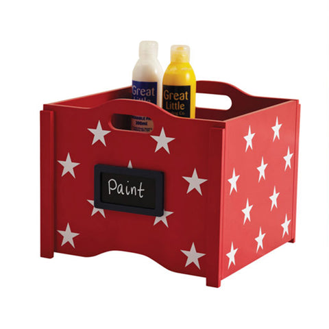 Stacking Toy Box - White Star Red