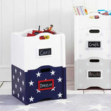 Stacking Toy Box - White Star Blue