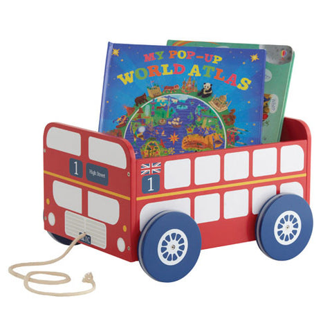 Book Storage Cart - London Bus