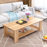 Double-Tier Wooden Coffee Table (2 Colors)
