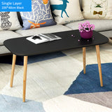 Minimalist Rectangle Single  Wooden Coffee Table (3 Colors)